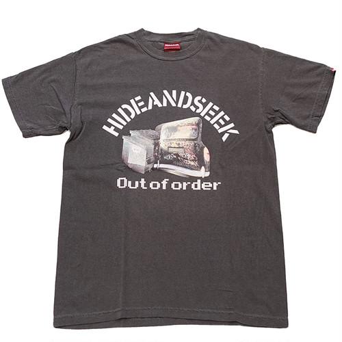 HIDEANDSEEK(ハイドアンドシーク) / Out Of Order S/S TEE(D-BLK)(HT-041321)(Tシャツ)