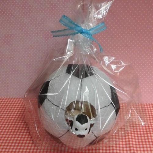 紙製サッカーボールの入れ物に焼き菓子5袋詰め合わせ♪(*^▽^*)