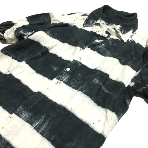 80's USA製 後染め プリズナー風 ボーダーシャツ