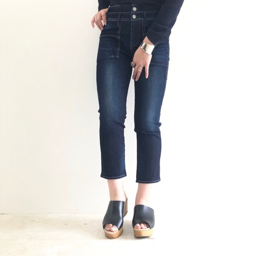 【 ANTGAUGE 】- C1691 - Double Belt Bush Skinny Cropped