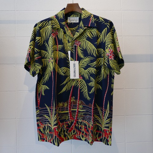"WACKOMARIA ""PALMS TREE""HAWAIIAN SHIRT"
