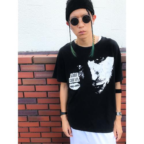 00s vintage  Kurt Cobain カートコバーン プリントTシャツ 黒/ブラック NIRVANA