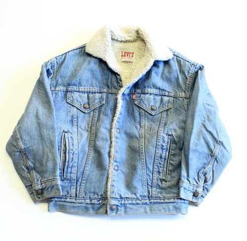 1980's Vintage Levis denim boa Jacket