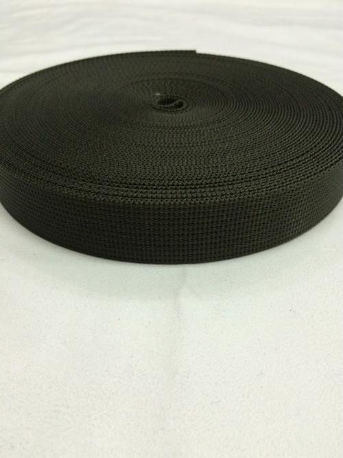 ナイロン  12本トジ  25mm幅  1.5mm厚  カーキ  5m