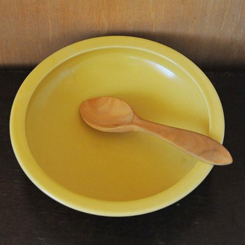 いにま陶房 こどもカレー皿(バナナ黄)