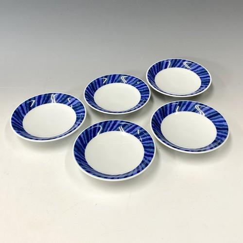 【中尾英純】和紙染小皿5枚揃