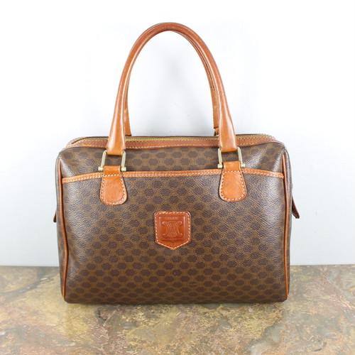 OLD CELINE MACADAM PATTERNED HAND BAG MADE IN ITALY/オールドセリーヌマカダム柄ハンドバッグ