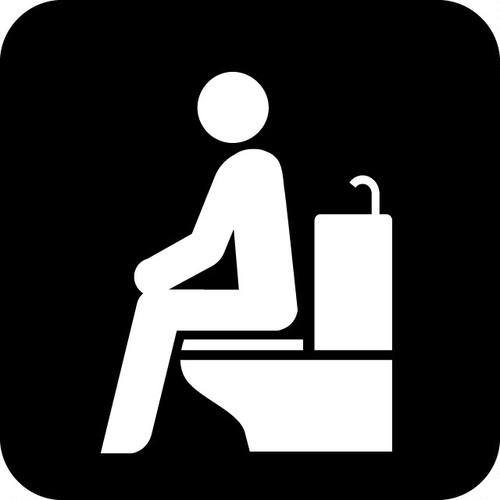 洋式トイレの案内マークのカッティングシートステッカー