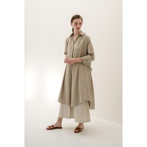 Organic typewritercloth coat dress /0001DR61