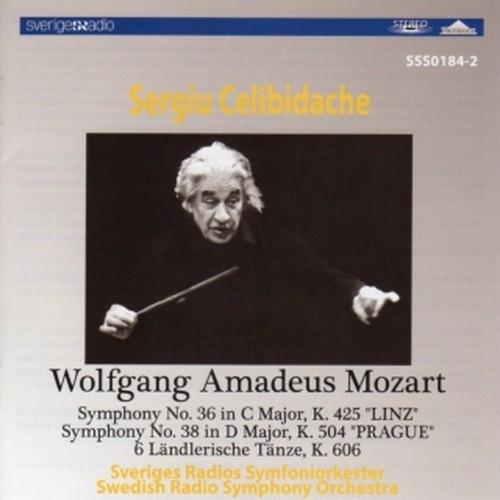 [中古CD] モーツァルト:交響曲第36番「リンツ」/第38番「プラハ」/六つのレントラー風舞曲 チェリビダッケ/スウェーデン放送交響楽団