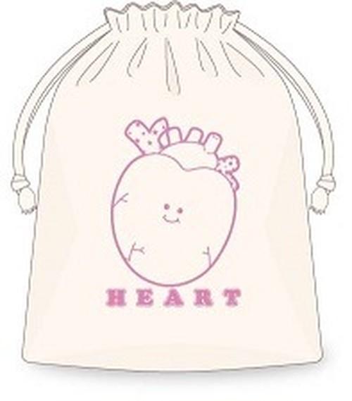 Heart巾着/ピンク