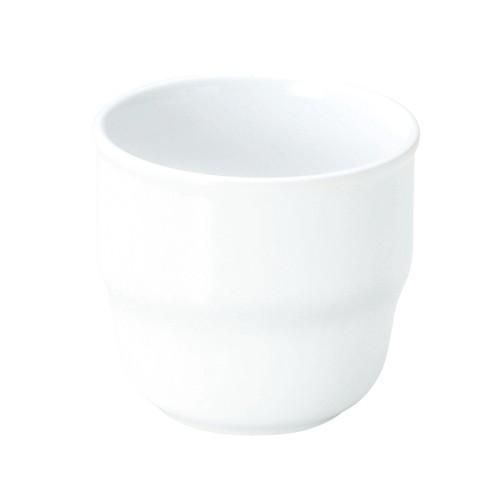 【1904-0000】強化磁器 持ちやすいカップ(Φ7.7cm×H7.1cm/満水220ml) 白無地