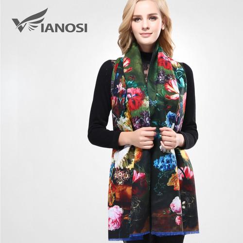 [VIANOSI]最新デザインバンダナ印刷冬スカーフ女性ショール厚く暖かいスカーフウールブランドスカーフ女性ラップVA070 VIO0587930