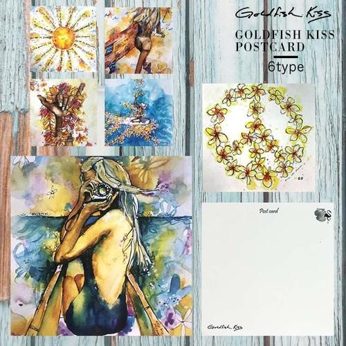 【GOLDFISH KISS】スクエアポストカード