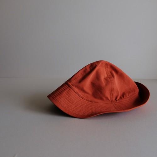 テントな帽子 【Cotton nylon hat】-brick orange-