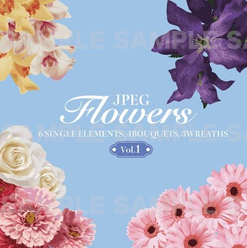 Floral(グラフィック素材・JPEG)