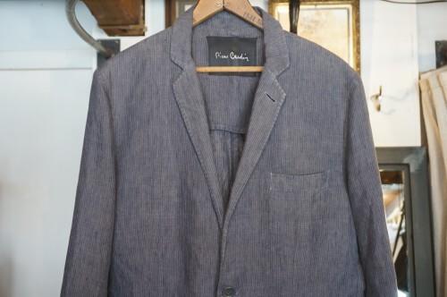 80's Pierre Cardin charcoal linen Jacket