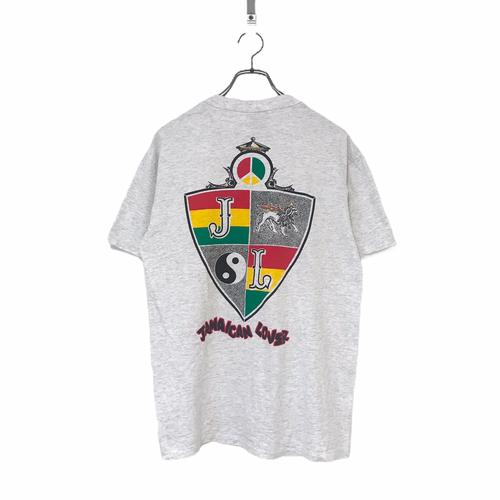 80's ONEITA POWER-T JAMAICAN LOVER Pocket T-shirt made in USA M Gray