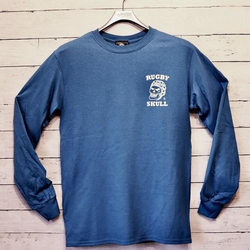 【YBC】RUGBY SKULL Back Print LongT-Shirt Blue