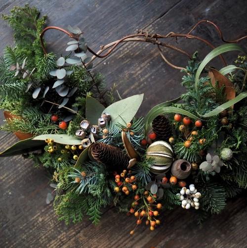 Christmas wreath ~half type