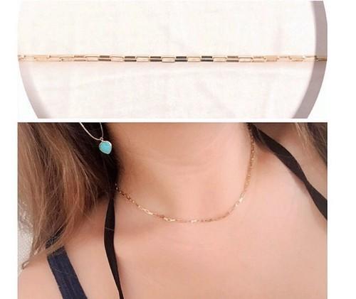 14kgf simple chain neckalce【 Box chain 】