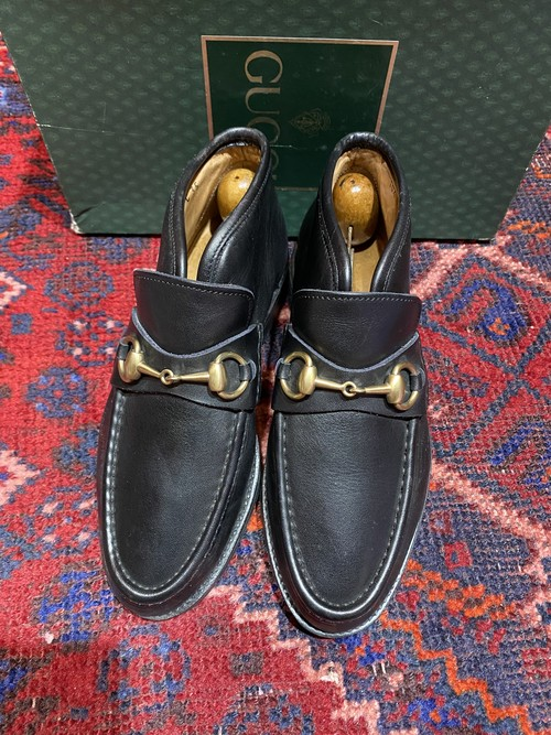 .GUCCI LEATHER HORSE BIT SHORT BOOTS MADE IN ITALY/グッチレザーホースビットショートブーツ 2000000048659