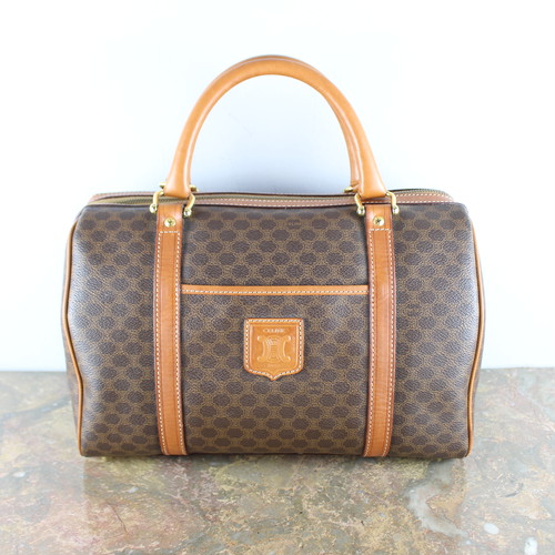.OLD CELINE MACADAM PATTERNED BOSTON BAG MADE IN ITALY/オールドセリーヌマカダム柄ボストンバッグ2000000052991