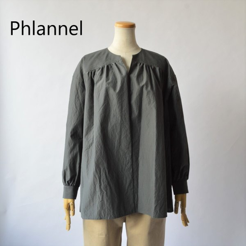 Phlannel/フランネル・cotton silk smock shirt