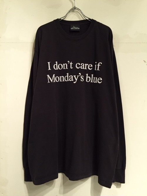 """【18010】PIGMENT DYE L/S BIG Tee """"Friday I'm in love"""""""