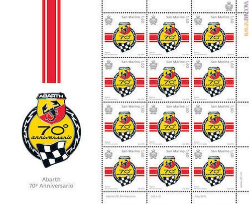 ABARTH 70周年記念 切手シート