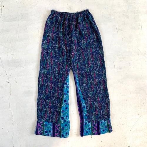 Pattern wide pants / C