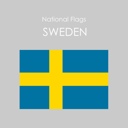 National Flags Sticker [SWEDEN]