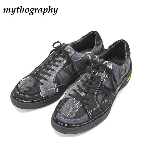 mythography Patchwork Sneakers -Black Denim /myth167
