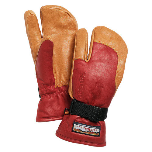 HESTRA GLOVE ヘストラ グローブ 33882 3-FINGER GTX FULL LEATHER RED/CORK