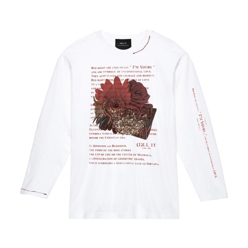 ILL IT - BOUQUET L/S T-SHIRT (WHITE)
