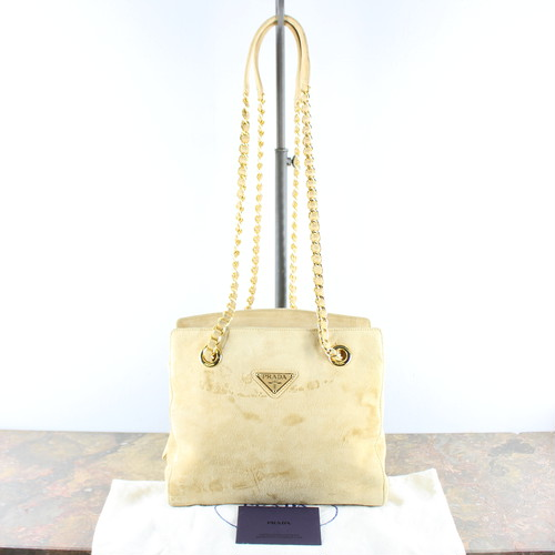 .PRADA LOGO LEATHER CHAIN SHOULDER BAG MADE IN ITALY/プラダロゴレザーチェーンショルダーバッグ2000000053028