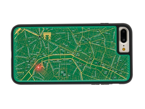FLASH Paris回路地図 iPhone7/8Plus ケース 緑【東京回路線図A5クリアファイルをプレゼント】