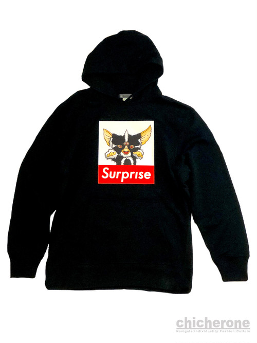【chi che ro】Surprise  Super Heavy Weight Hoodie BLK