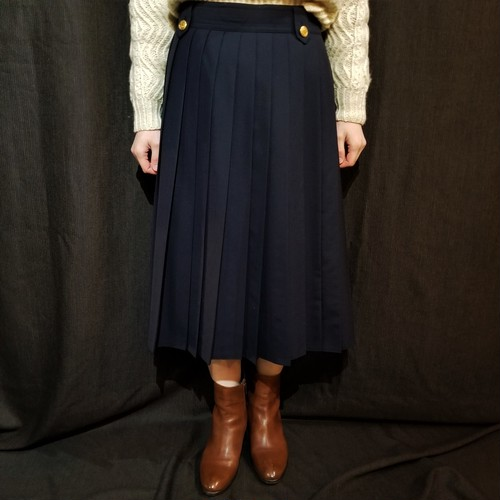 One way pleats skirt [G-1035]