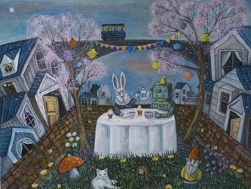 裏庭のお茶会