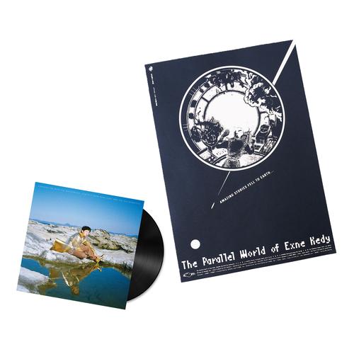 【セット購入ページ】LP Record「Contact From Exne Kedy And The Poltergeists」+Silkscreen Poster「The Parallel World of Exne Kedy」