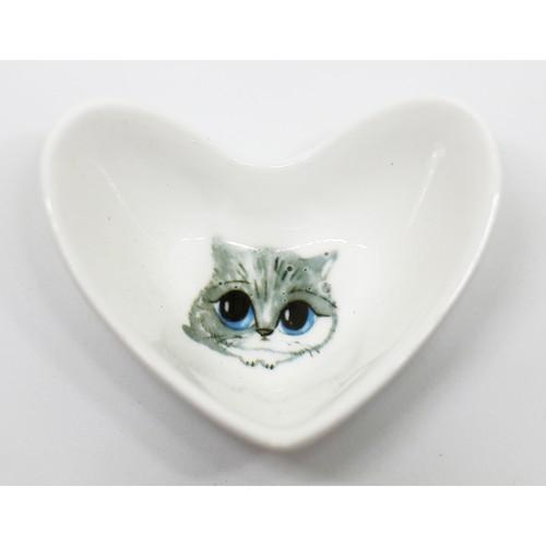 猫鉢(みつめるねこハート小鉢)