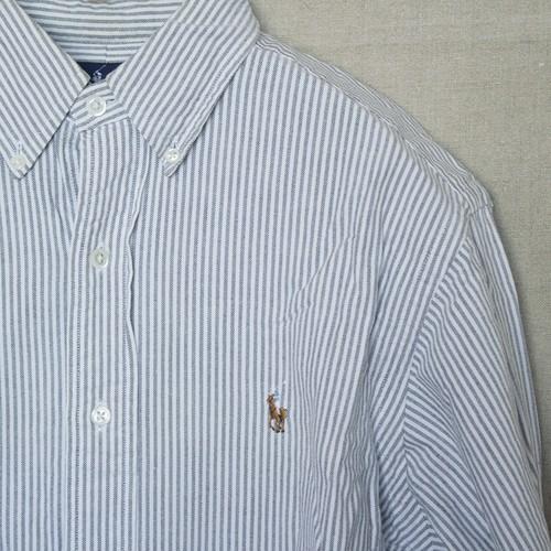 ラルフローレン BDシャツ【グレーストライプ】Mサイズ