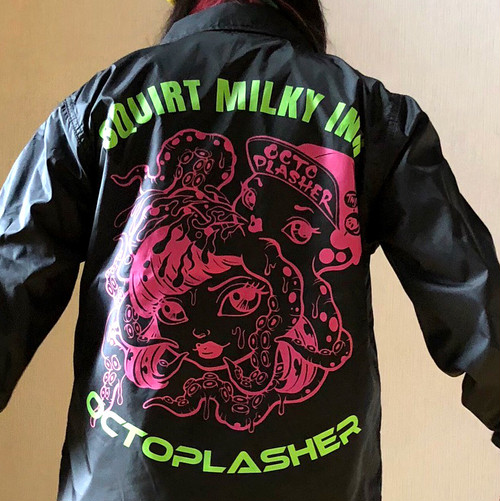 SQUIRT MILKY INK Coach Jacket