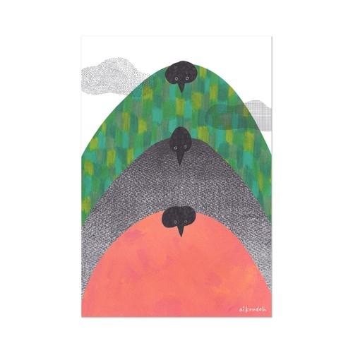ポストカード【mountain birds】