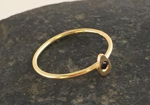 Black Diamond ◆K14 Ring size#10
