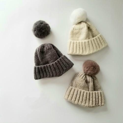 【即納】ボンボンニット帽 CONBINI