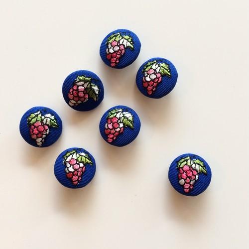 オランダ 刺繍くるみボタン / ぶどう BL