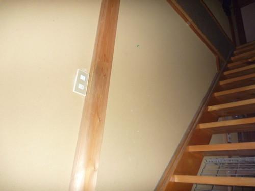 階段に手すりがほしい