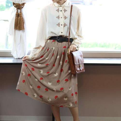 .PINK HOUSE DOT FLORAL PATTERNED SKIRT/ピンクハウスドット花柄スカート 2000000034782